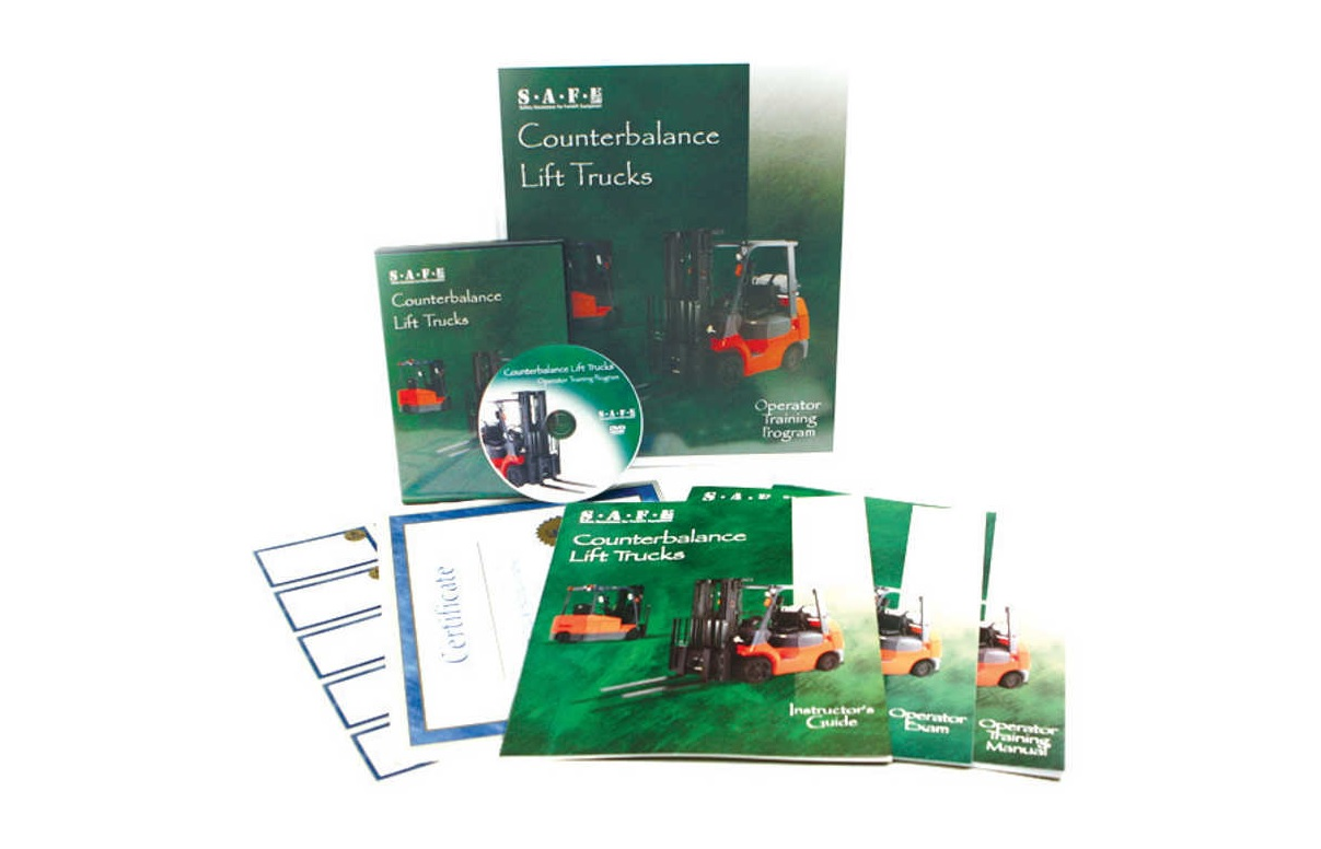 Safe Lift Counterbalance Spanish Forklift Training Dvd Kit First