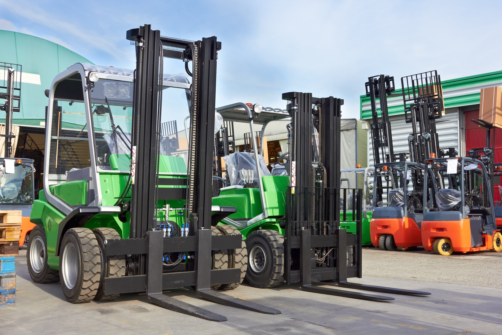 Variety of Forklifts with Differing Capacities