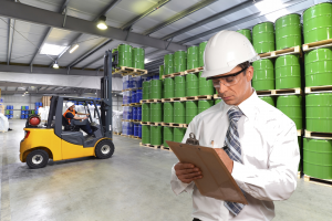 OSHA Forklift Trainer writing