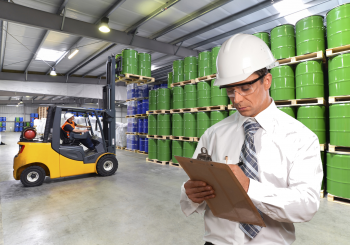 OSHA Forklift Trainer writing