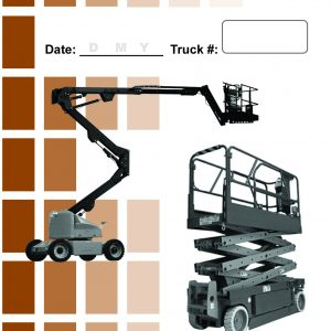 Aerial lift Daily Checklist Caddy