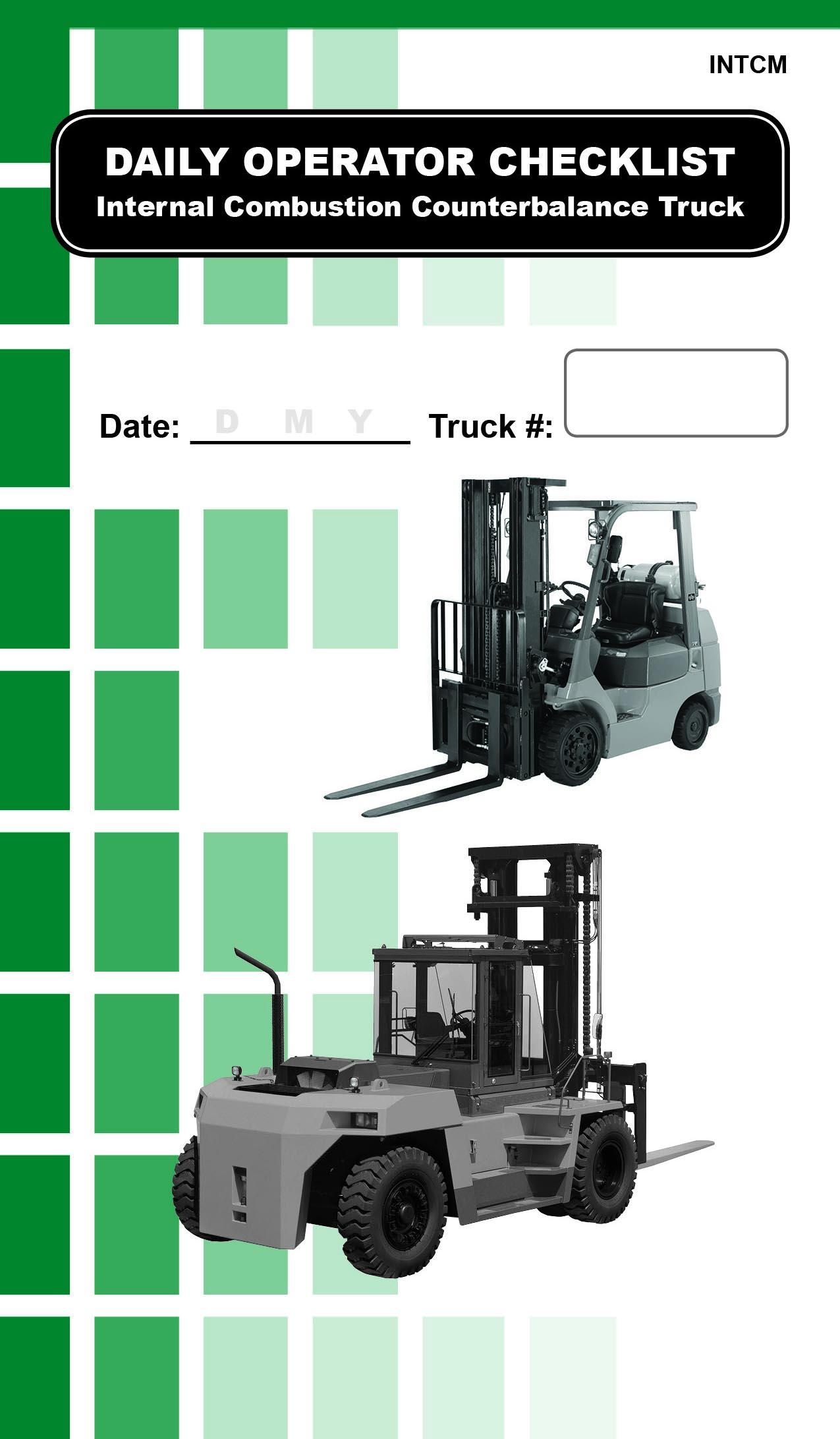 Propane Counterbalance Forklift Daily Checklist Refill