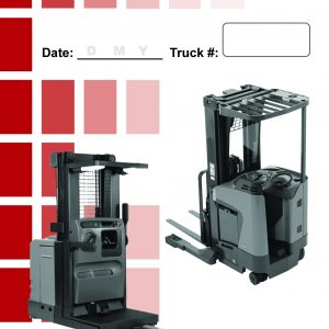 Narrow Aisle Forklift Daily Checklist Caddy