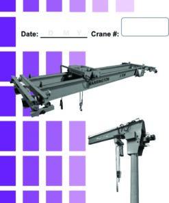 Overhead Crane Daily Checklist Caddy
