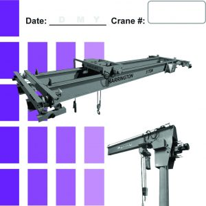 Overhead Crane Daily Checklist Caddy