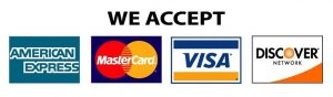 We Accept Amex Mastercard Visa Discover
