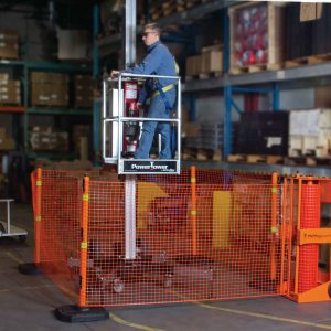 Portable Safety Zone Barrier System