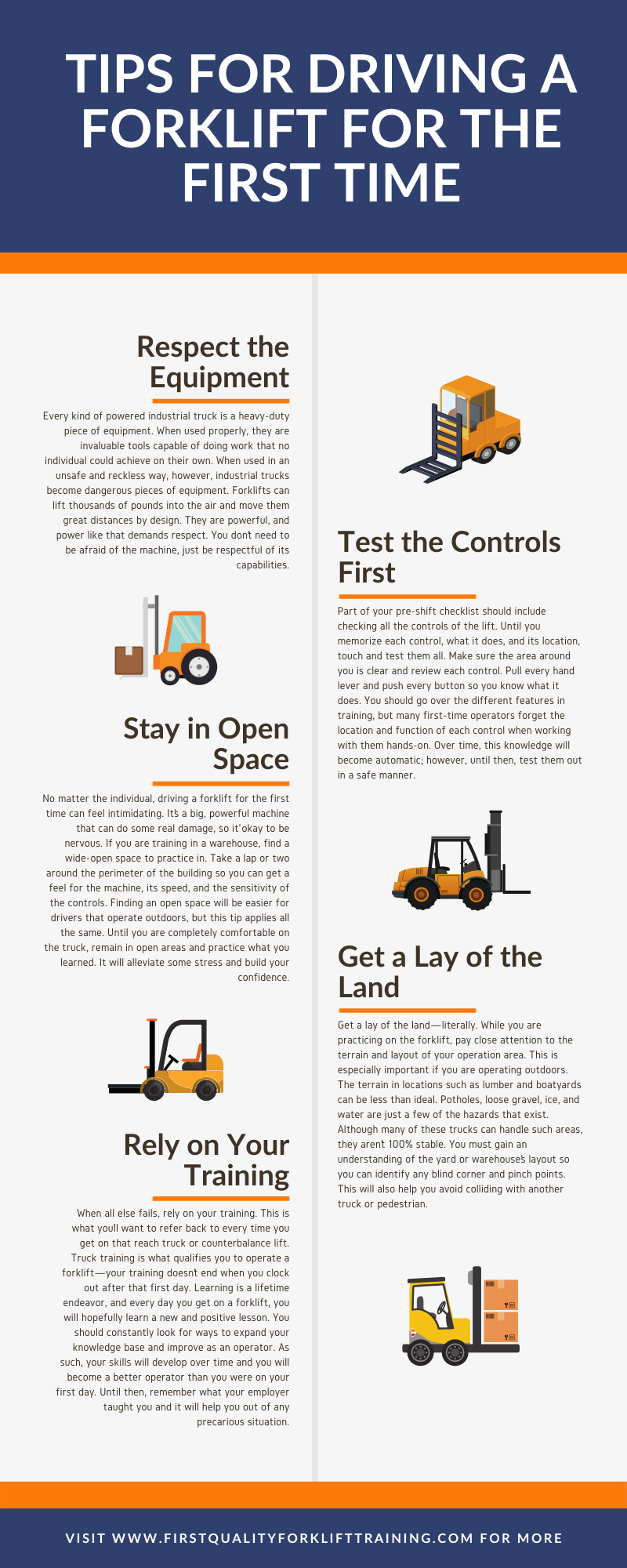 Driving a Forklift Tips