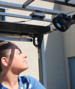 Forklift Fan Woman Operator Eyes Closed
