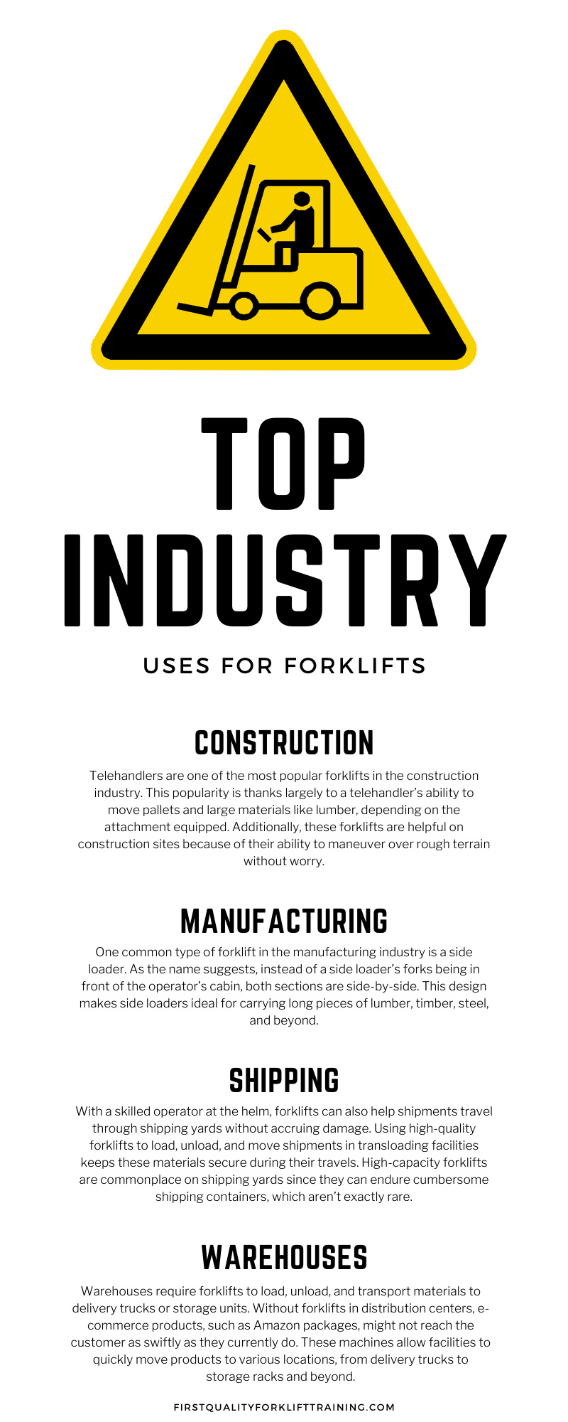 Top Industry Uses for Forklifts