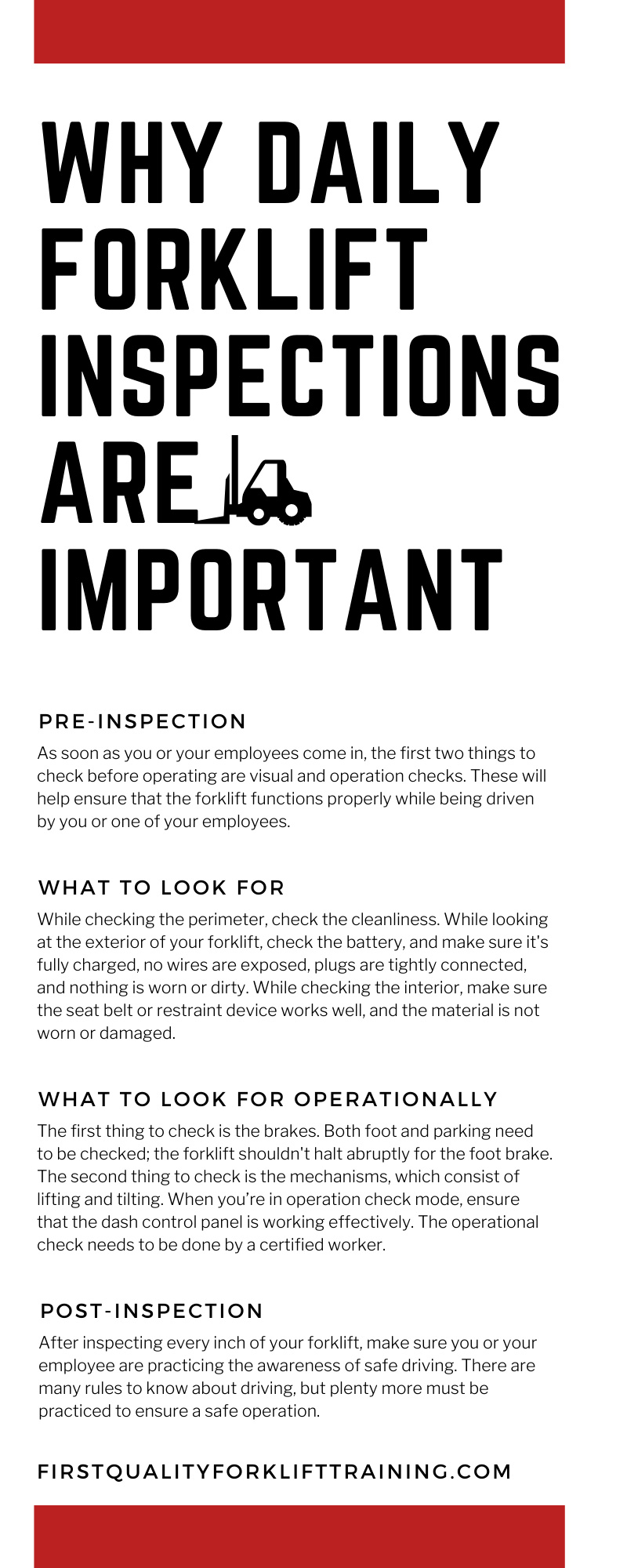 Why Daily Forklift Inspections Are Important